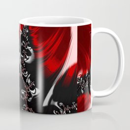 Red and Black Abstract Fractal Coffee Mug