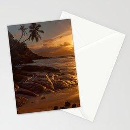 paradise beach Stationery Cards