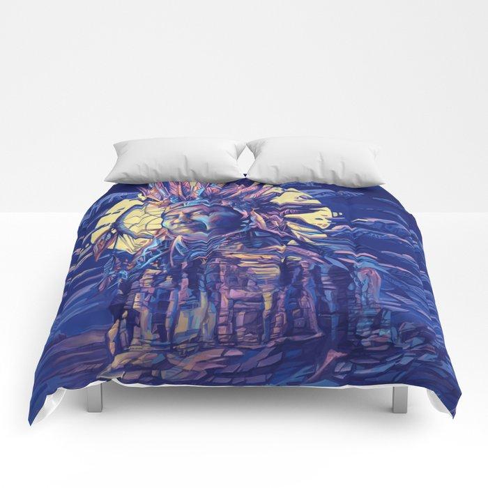 native american portrait 2 Comforters