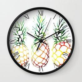 Retro Pineapples Wall Clock