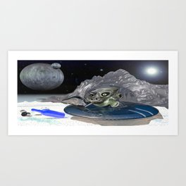 Picnic in space Art Print