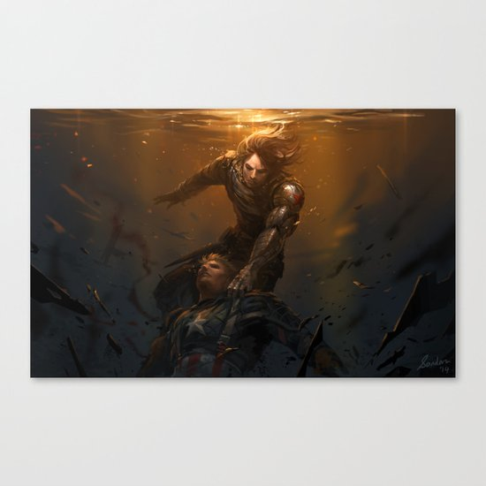 The Light Before We Land Canvas Print