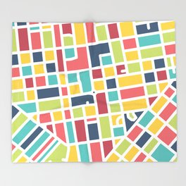 Lancaster, PA Block Map Throw Blanket