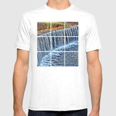 Waterfall near Flatrock MEDIUM Mens Fitted Tee White