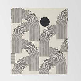 Abstraction_SUNLIGHT_SUNSHINE_LINE_POP_ART_Minimalism_001A Throw Blanket