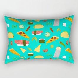 Feed Me- food pattern Rectangular Pillow