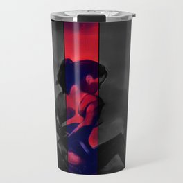 Charcoal and Lace Travel Mug