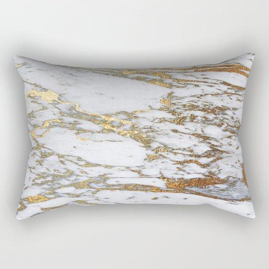 Gold Marble Rectangular Pillow By Jenna Davis Designs