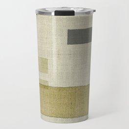 """""""Burlap Texture Natural Shades"""" Travel Mug"""