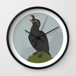 Crested Auklet Wall Clock