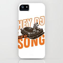 Play my music dj! Music techno rave design iPhone Case