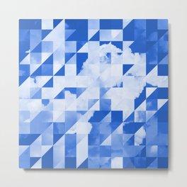 SKY triangles Metal Print