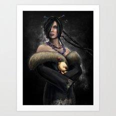 Final Fantasy X Lulu Painting Portrait Art Print