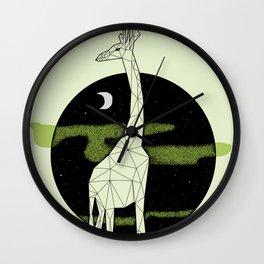 Giraffe in geometric style Wall Clock