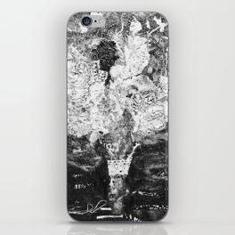 RETRO LACE BOUQUET Black and White iPhone Skin