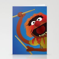 muppets Stationery Cards featuring Animal - Muppets Collection by Bryan Vogel