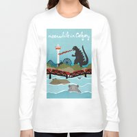 the neighbourhood Long Sleeve T-shirts featuring YYCFlood by KeliGirl