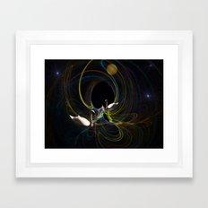 Swan Song. Framed Art Print