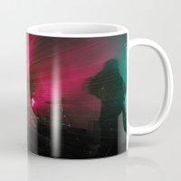 concert Mugs featuring STRFCKR concert lasers by GrowthMind Goods