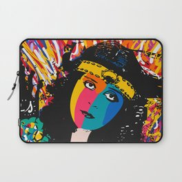 Pop Art Graffiti Portrait of Theda Bara Vintage Actress of Hollywood  Laptop Sleeve