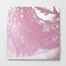 Reflected Pink Metal Print