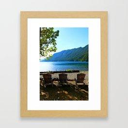Adirondack Chairs at Lake Cresent Framed Art Print