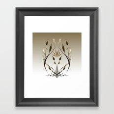 floral emblem 1 Framed Art Print