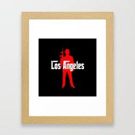 Los Angeles mafia Framed Art Print