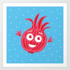 Cute Red Onion Art Print