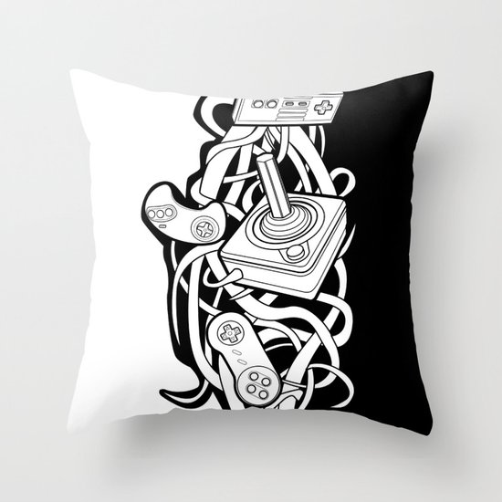 Vines of the Past Throw Pillow