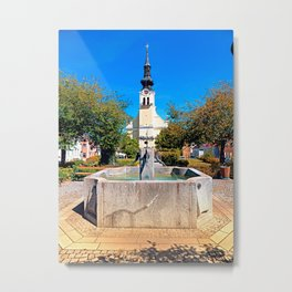 The village fountain of Reichenthal Metal Print