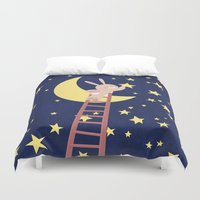 starry night Duvet Covers featuring Starry Night by Roberta Jean Pharelli