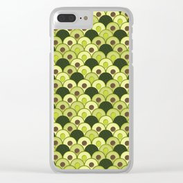 avocados in art deco Clear iPhone Case