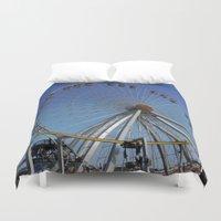 ferris wheel Duvet Covers featuring Ferris Wheel  by CharlieRae