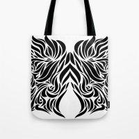 gemini Tote Bags featuring Gemini by Mario Sayavedra