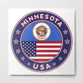 Minnesota, USA States, Minnesota t-shirt, Minnesota sticker, circle Metal Print