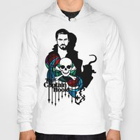 captain hook Hoodies featuring Shadows The Captain Hook by Mad42Sam