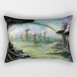 Alien Landscape Rectangular Pillow