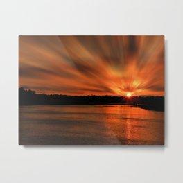 Newport Back Bay Sunset 002 Metal Print