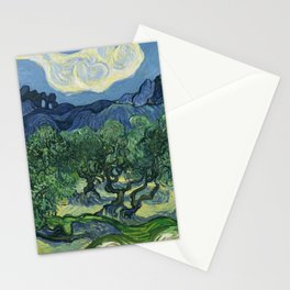 Olive Trees by Vincent van Gogh Stationery Cards