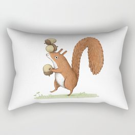Squirrel With Acorns Rectangular Pillow