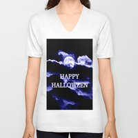 halloween V-neck T-shirts featuring Halloween by WhimsyRomance&Fun