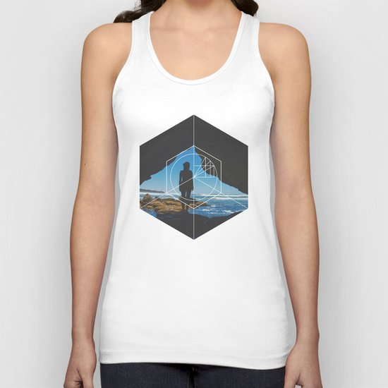 Paradise Cove Girl - Geometric Photography Unisex Tank Top
