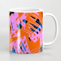 orange pattern Mugs featuring Orange Pattern by Sarah Bagshaw