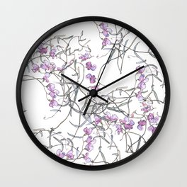 Sweet Pea medley Wall Clock