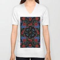 russian V-neck T-shirts featuring Russian Style by Eduardo Doreni