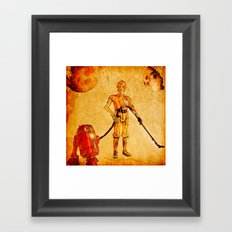 Cleaning in the space Framed Art Print