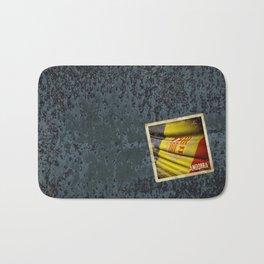 Grunge sticker of Andorra flag Bath Mat