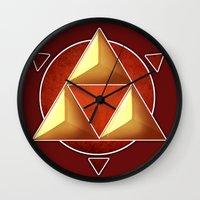triforce Wall Clocks featuring Triforce by lythy