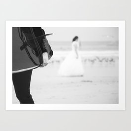 catch a wave and love Art Print
